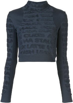 Eckhaus Latta logo pattern sweatshirt