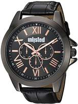 UNLISTED WATCHES Men's 'Dress Sport' Quartz Metal Casual Watch, Color:Black (Model: 10030895)