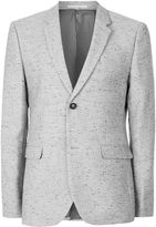 Topman Grey And Black Neppy Skinny Fit Blazer
