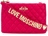 Love Moschino quilted logo plaque crossbody bag