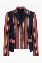 French Connection Dovie Stripe Suiting Mix Jacket