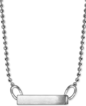 "Alex Woo Polished Bar 16"" Pendant Necklace in Sterling Silver"