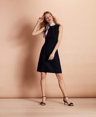 Brooks Brothers Stretch-Wool A-Line Dress