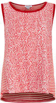 Splendid Red Paisley Bonfire Sleeveless Top