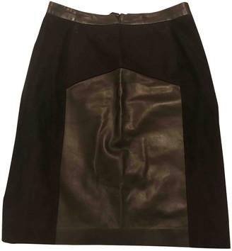 Porsche Design Black Leather Skirt for Women