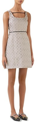 Gucci Heritage GG Lame Short Dress