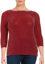 MICHAEL Michael Kors Plus Shimmer Knit Top