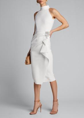 Chiara Boni Sleeveless Halter Ruched Dress