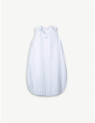 The Little White Company Under-The-Sea striped cotton sleeping bag 6-12 months