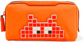 Anya Hindmarch Girlie Stuff Leather-trimmed Cosmetics Case - Bright orange
