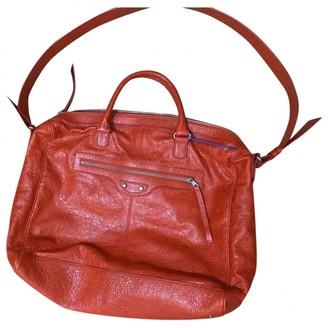 Balenciaga Weekender Red Leather Handbags