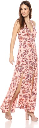 MinkPink Women's Lola Halter Maxi Dress
