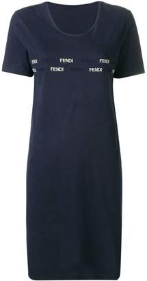Fendi Pre-Owned 1990's logo embroidered T-shirt dress