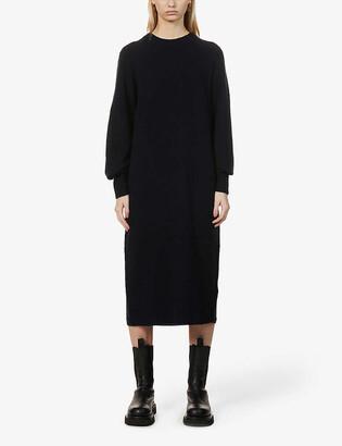 Whistles Round-neck knitted midi dress