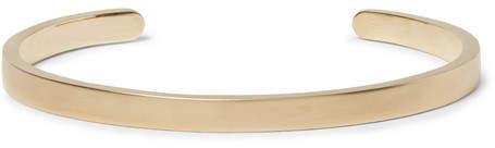 Miansai Singular Brushed-Brass Cuff
