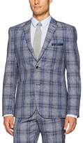 Paisley & Gray Men's Slim Fit Single Breasted Plaid Suit Separate Jacket