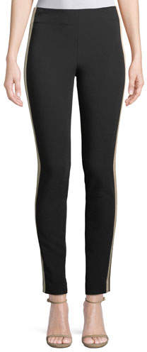 Cinq à Sept Kiana Ankle Leggings w/ Side Stripes