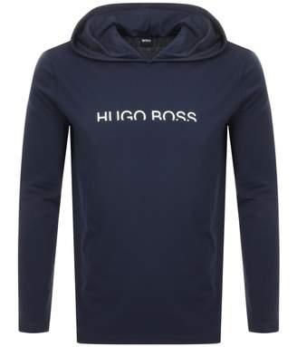 HUGO BOSS Boss Business Hooded Long Sleeved T Shirt Navy