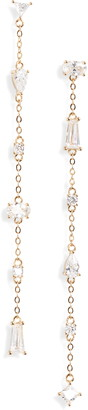 Nordstrom Mismatched Cubic Zirconia Linear Drop Earrings
