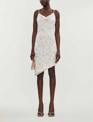 Topshop Embellished chiffon mini dress