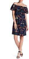 Bobeau Off-the-Shoulder Floral Ruffle Dress