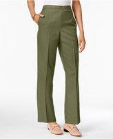 Alfred Dunner Palm Desert Straight-Leg Pull-On Pants