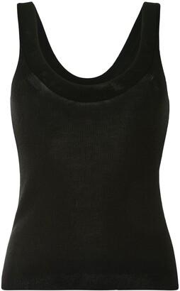 Altuzarra Ribbed-Knit Scoop Vest Top