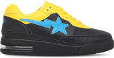 A Bathing Ape Star-motif leather trainers