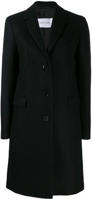 Calvin Klein Single-Breasted Coat