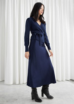 And other stories Flowy Satin Midi Skirt