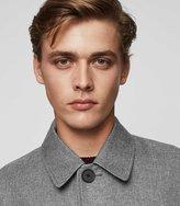 Reiss Reiss Ward - Herringbone Mac In Grey, Mens