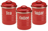 Typhoon Vintage Kitchen Cannister 3pc - Red