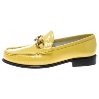 Salvatore Ferragamo Yellow Patent leather Flats