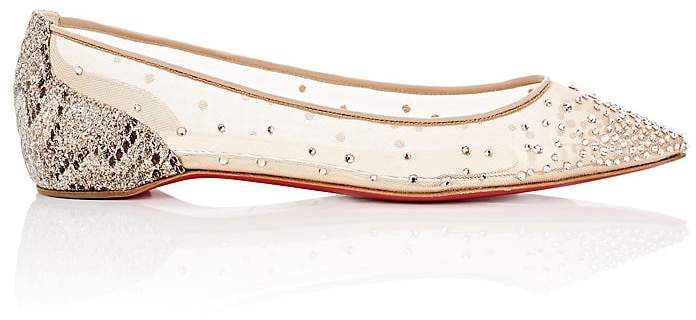 "Christian Louboutin Women's ""Follies Strass Flat"" Flats"