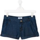 Young Versace - floral print pocket denim shorts - kids - Cotton - 14 yrs