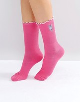 Lazy Oaf Fluffy Bunny Socks