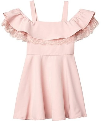 Bardot Junior Josie Frill Dress (Big Kids) (Blush) Girl's Dress
