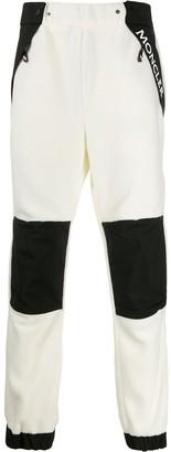 MONCLER GRENOBLE Logo Print Fleece Trousers