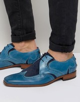 Jeffery West Scarface Leather Suede Derby Shoes