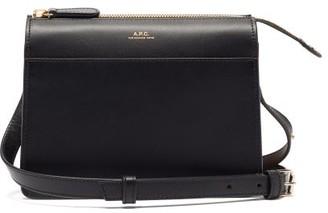 A.P.C. Ella Smooth-leather Cross-body Bag - Black