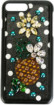 Dolce & Gabbana jewel-embellished phone case - women - Calf Leather/Plastic/Polyamide/Viscose - One Size