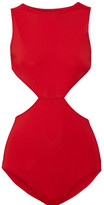 Rick Owens Cutout Swimsuit - Red