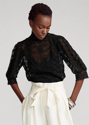 Ralph Lauren Cotton Lace Blouse
