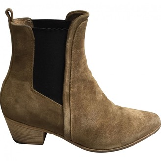 IRO Beige Suede Ankle boots