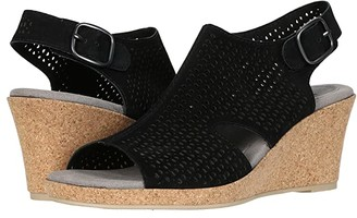 Earth Radiant (Black Nubuck Leather) Women's Sandals
