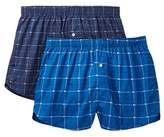 Lacoste Woven Logo Check Boxer - Pack of 2