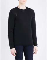 The Kooples Distressed Cotton-blend Jumper