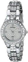 "Swarovski Armitron Women's ""75/3689SVSV Crystal-Accented Silver-Tone Bracelet Watch"