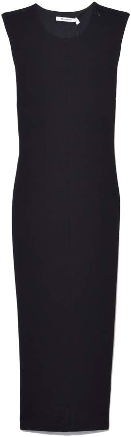 Alexander Wang Stretch Faille Ponte Sleeveless Dress in Black