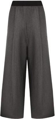 we11done Logo-Patch Wide Trousers